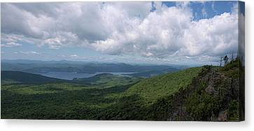 Lake And Ridges Canvas Print by Joshua House