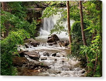 Lake Ann Waterfall - Bella Vista Arkansas Canvas Print by Gregory Ballos
