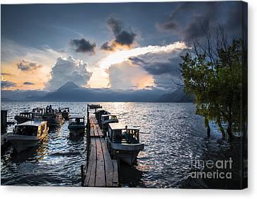 Lake Atitlan At Sunset Canvas Print