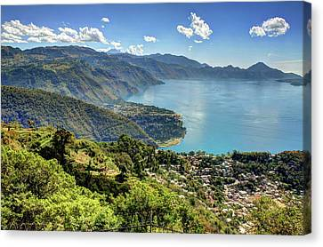 Lake Atitlan Canvas Print by John Loreaux