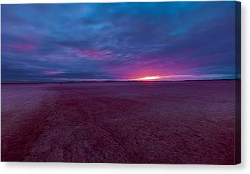 Lake Ballard At Dawn Canvas Print by Julian Cook