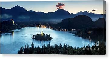 Lake Bled Dawn Canvas Print by Brian Jannsen