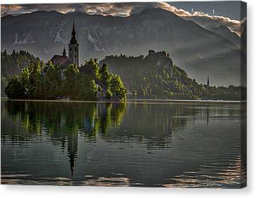 Canvas Print featuring the photograph Lake Bled Morning #3 - Slovenia by Stuart Litoff