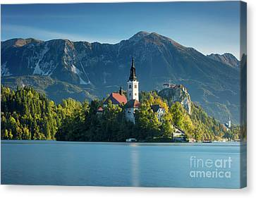 Lake Bled Morning Canvas Print by Brian Jannsen