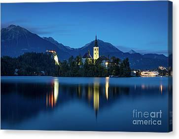 Lake Bled Twilight Canvas Print by Brian Jannsen