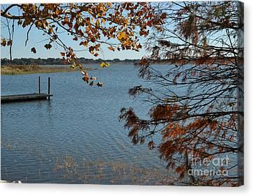 Canvas Print featuring the photograph Lake Bonny Autumn by Carol  Bradley