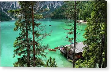 Lake Braies Canvas Print by Happy Home Artistry