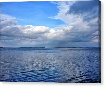Lake Champlain From New York Canvas Print by Brendan Reals