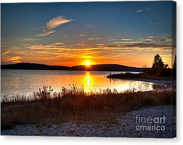 Lake Charlevoix Sunset Canvas Print