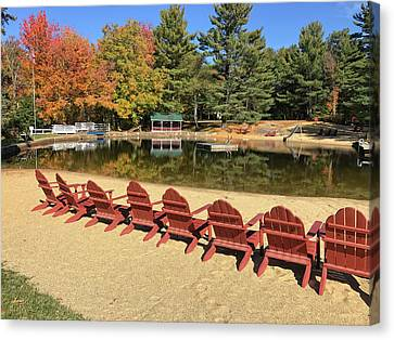 Lake Club In Fall Canvas Print