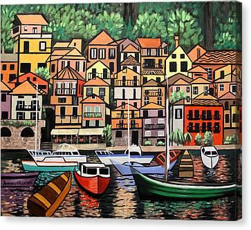 Lake Como Italy Canvas Print by Anthony Falbo