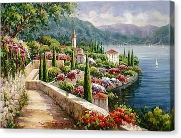 Lake Como Promenade Canvas Print