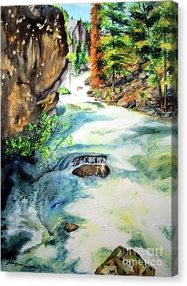 Lake Como Waterfall Canvas Print by Tracy Rose Moyers