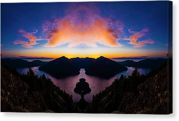 Lake Crescent Reflection Canvas Print