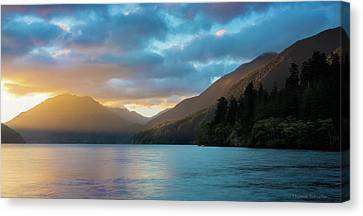 Lake Crescent Sunrise Canvas Print by Thomas Schoeller