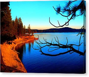 Lake Davis Canvas Print by Chad Rice