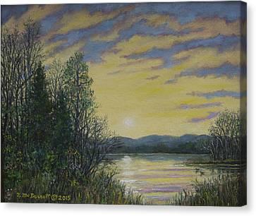 Lake Dawn Canvas Print