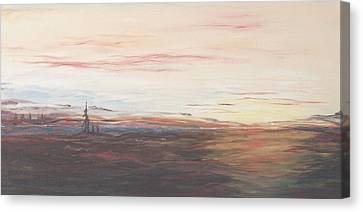 Canvas Print featuring the painting Lake by Diane Daigle