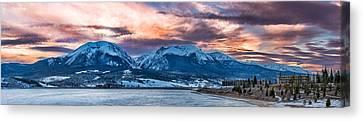 Canvas Print featuring the photograph Lake Dillon by Sebastian Musial