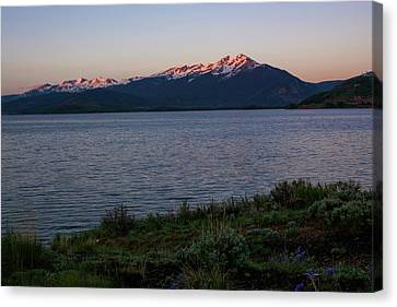 Lake Dillon Sunrise Canvas Print by Aaron Spong
