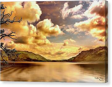 Canvas Print featuring the photograph Lake District Uk by Wallaroo Images