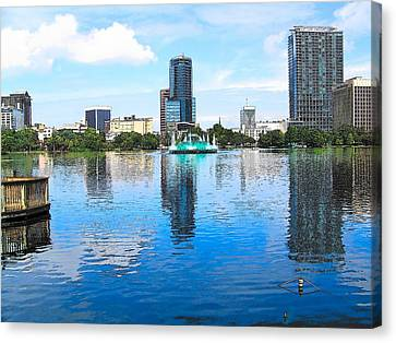 Lake Eola Downtown Orlando Canvas Print
