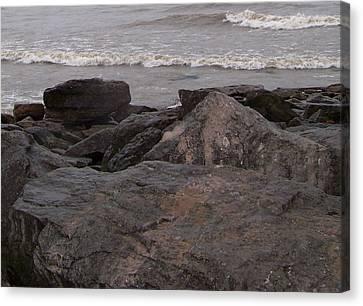 Lake Erie On The Rocks Canvas Print
