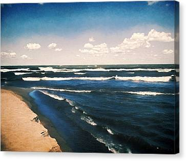 Lake Erie Whitecaps  Canvas Print by Shawna Rowe