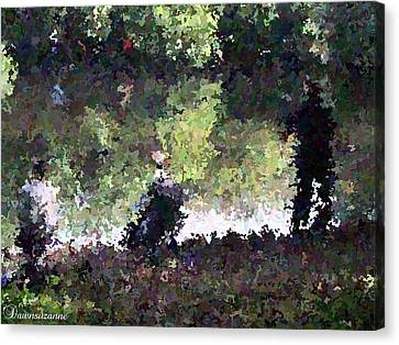 Lake Fishing Impressionist Painting Canvas Print by Dawn Hay
