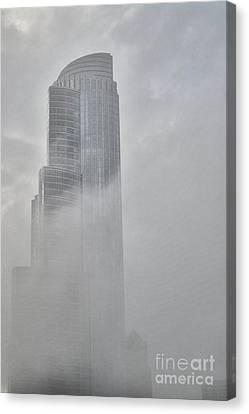 Lake Fog Canvas Print by David Bearden
