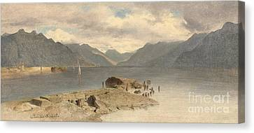 Lake Geneva Canvas Print by Celestial Images