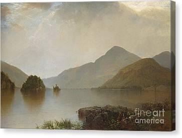 Lake George, 1869 Canvas Print by John Frederick Kensett