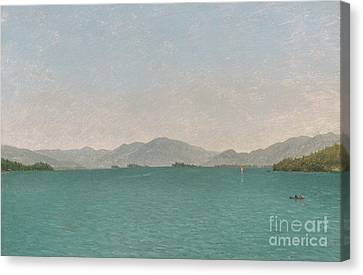 Lake George, Free Study, 1872 Canvas Print by John Frederick Kensett