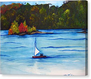 Canvas Print featuring the painting Lake Glenville  Sold by Lil Taylor