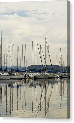 Lake Guntersville Alabama Sailboat Harbor Canvas Print by Kathy Clark
