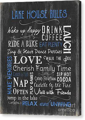 Lake House Rules Canvas Print
