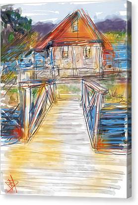 Lake House Canvas Print by Russell Pierce