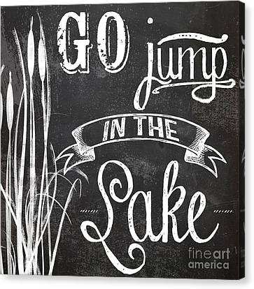 Cattail Canvas Print - Lake House Rustic Sign by Mindy Sommers
