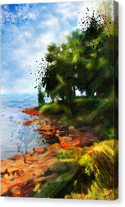 Lake Huron's Shore Canvas Print by Chamira Young
