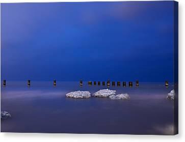 Lake Ice Chicago Canvas Print by Steve Gadomski