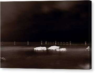 Lake Ice Canvas Print by Steve Gadomski