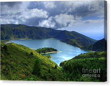 Lake In The Azores Canvas Print by Gaspar Avila