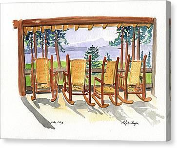 Lake Lodge Canvas Print