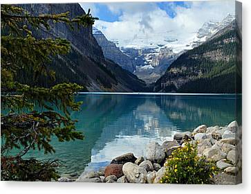 Mountains Canvas Print - Lake Louise 2 by Larry Ricker