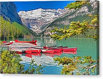Lake Louise Canvas Print by Dennis Cox WorldViews