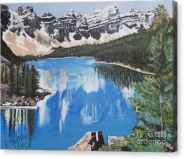 Lake Louise  Canvas Print by Francine Heykoop