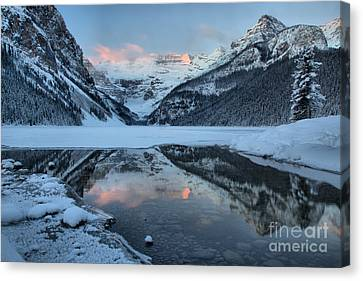Canvas Print - Lake Louise Pink Morning by Adam Jewell