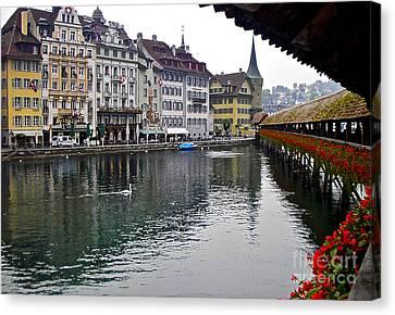 Lake Lucerne Canvas Print by Heidi Peschel