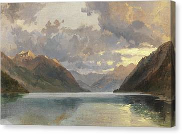 Lake Lucerne Canvas Print by James Duffield Harding