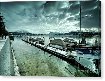 Lake Lucerne Jetty  Canvas Print
